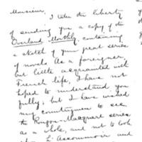 Lettre de Lew Bardeen à Émile Zola du 18 octobre 1890