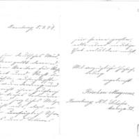 Lettre de Magnus Röschen à Émile Zola du 5 mars 1898