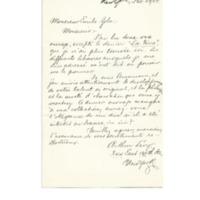 Lettre de Lévy à Émile Zola du 29 février 1888
