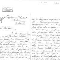 Lettre de Sophie Zaffradry à Madame Zola, du 17 mars 1898