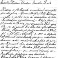 Lettre de Caetano de Faro à Émile Zola de février 1898