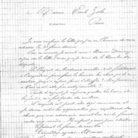 Lettre d'Alfred de Selberier à Émile Zola du 12 mars 1898