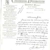 Lettre de H (?) Baudout à Émile Zola du 14 janvier 1898