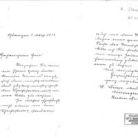 Lettre d'H. Steup à Émile Zola du 5 mars 1898