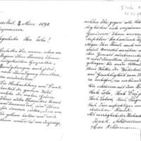 Lettre d'Isaak et Max Ackermann à Émile Zola  du 2 mars 1898
