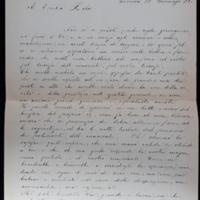 Lettre d'une femme italienne