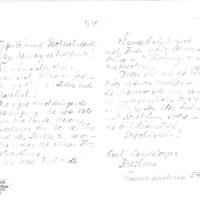 Lettre de Carl Landsberger à Émile Zola du 8 mars 1898