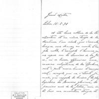 Lettre de Carlos Moreira da Silva à Émile Zola du 16 février 1898
