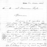 Lettre de Julio Augusto Martins à Émile Zola, du 6 mars 1898