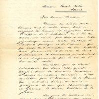 Lettre de Émile Aeppchi à Émile Zola du 25 janvier 1898