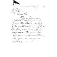 Lettre de R. T. Rundle P. Milliken à Émile Zola du 9 décembre 1894
