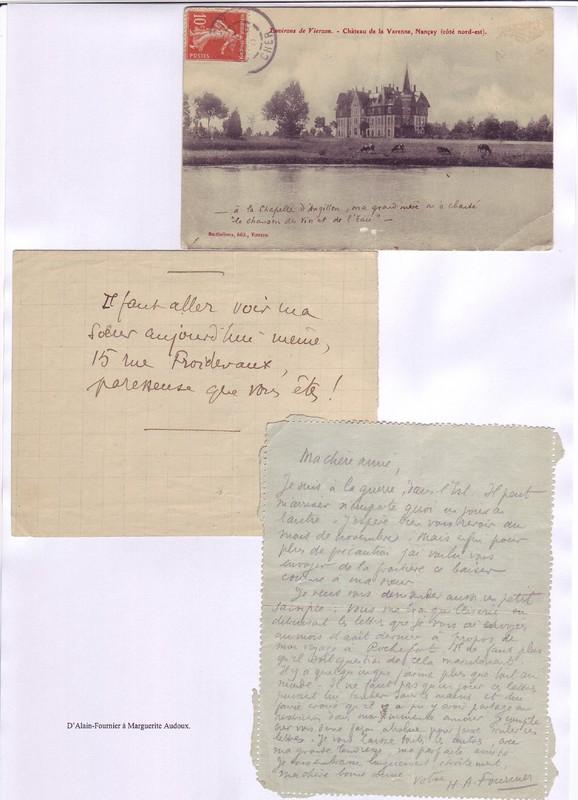 Présentation de quelques correspondants de Marguerite Audoux