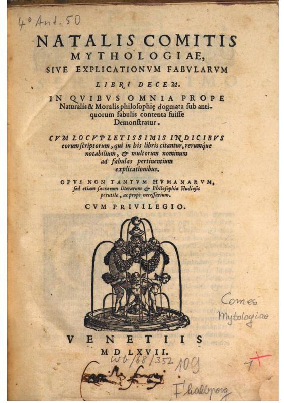Natale Conti, Mythologiae Libri Decem (Mythologia)