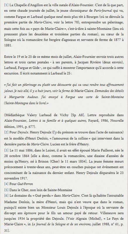 Archives Marguerite Audoux