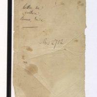 Recueil de lettres de Voltaire, de Mme du Châtelet et de Jean-Jacques Rousseau, préparé en 1782 pour une édition, par un ancien secrétaire de l'abbé de Sade