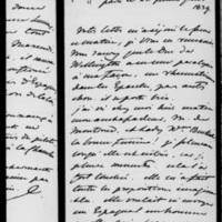 185. Paris, Jeudi 28 février 1839, Dorothée de Lieven à François Guizot