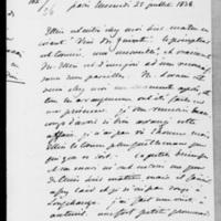 102. Paris, Mercredi 25  juillet 1838, Dorothée de Lieven à François Guizot