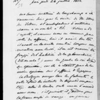 103. Paris, Jeudi 26  juillet 1838, Dorothée de Lieven à François Guizot