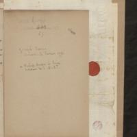 Lettre de Joseph Sacco ministre de Parme à Robert-Martin Le Suire secrétaire de Son Altesse Royale, folio 5_droite