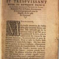 Mythologie, Lyon, 1612 - Dédicace au prince de Condé