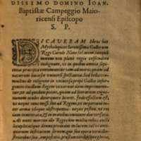 Mythologia, Francfort, 1581 - Epître dédicatoire