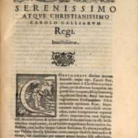Mythologia, Venise, 1567 - Serenissimo atque christianissimo Carolo Galliarum Regi Invictissimo