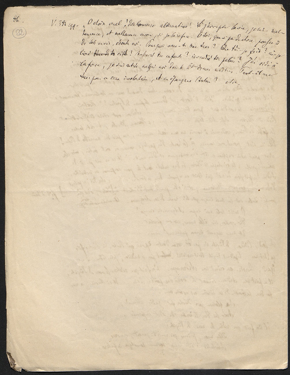 [folio 92 : foliotation de la main de bibliothécaire]