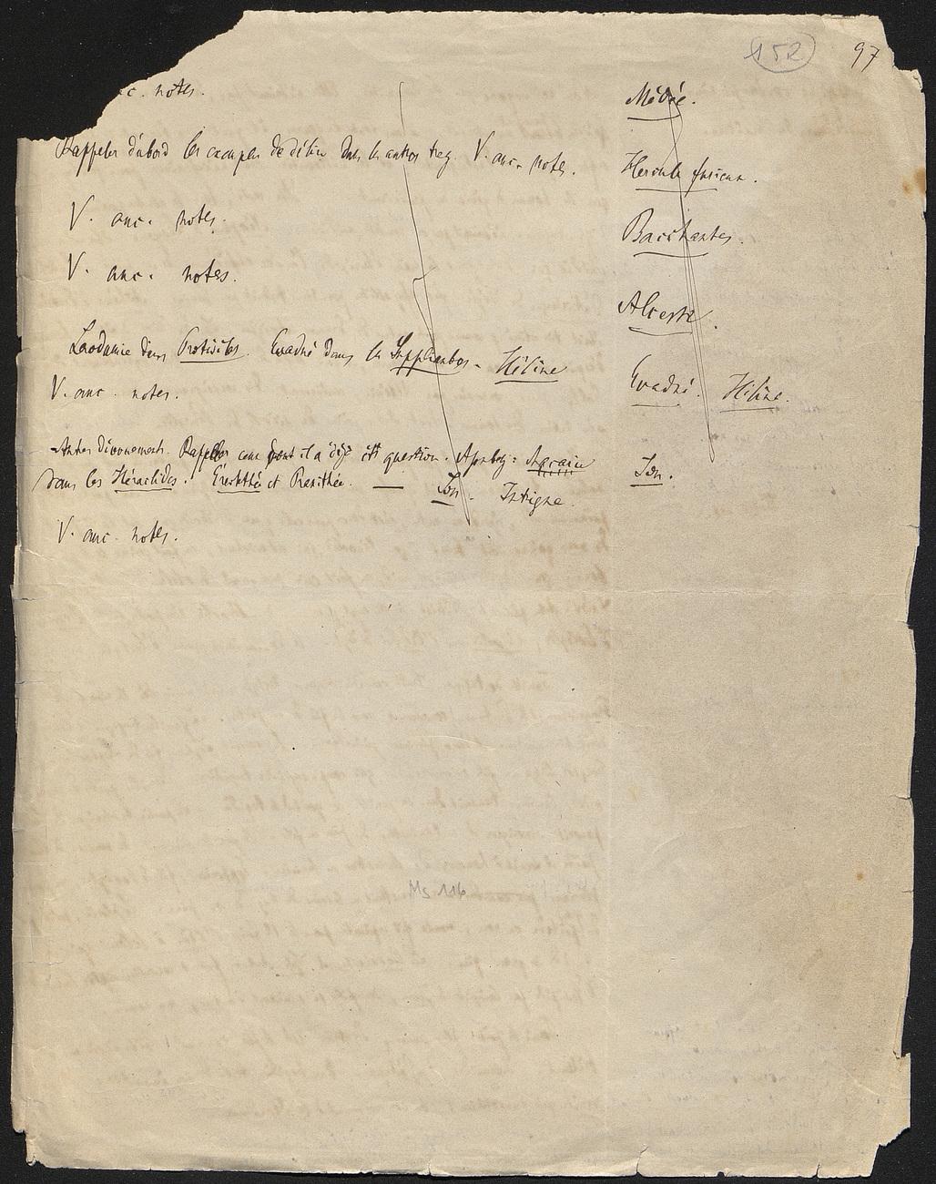[folio 152 : foliotation de la main de bibliothécaire]
