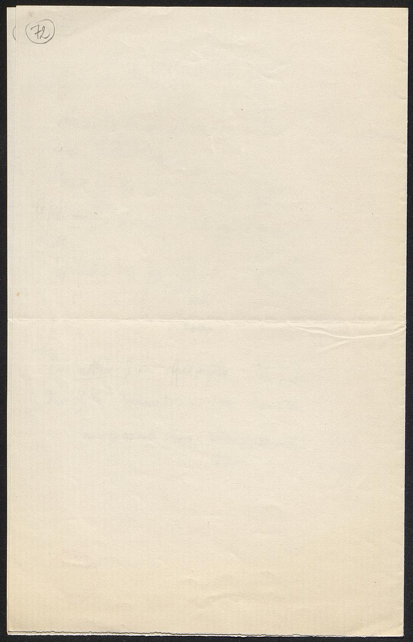 [folio 72 : foliotation de la main de bibliothécaire]