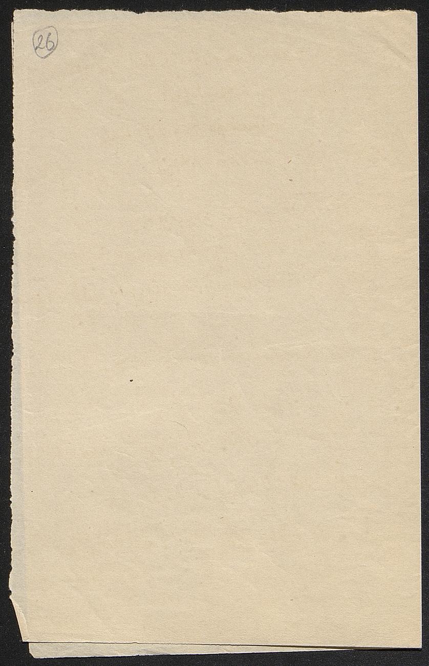 [folio 26 : foliotation de la main de bibliothécaire]