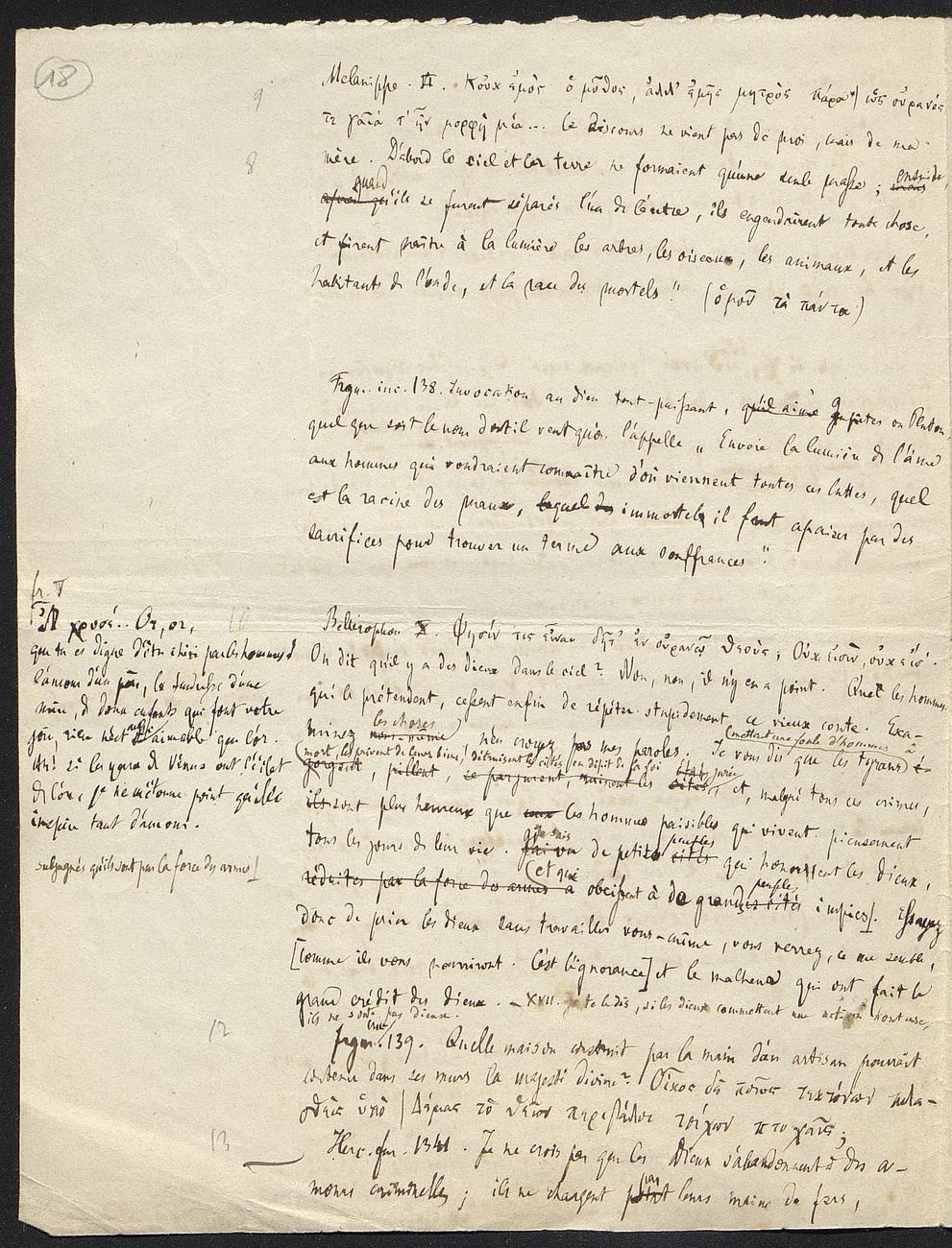 [folio 18 : foliotation de la main de bibliothécaire]