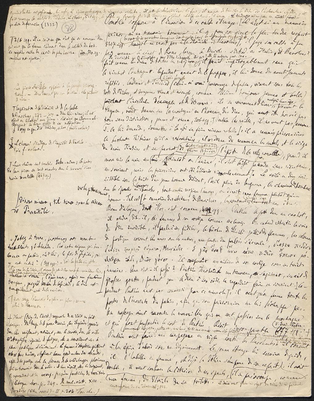 [folio 88 : foliotation de la main de bibliothécaire]