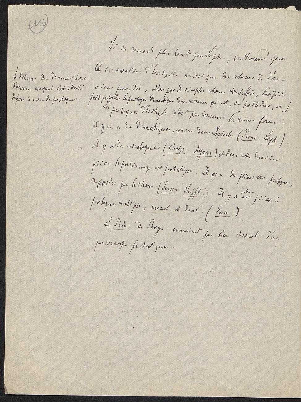 [folio 116 : foliotation de la main de bibliothécaire]