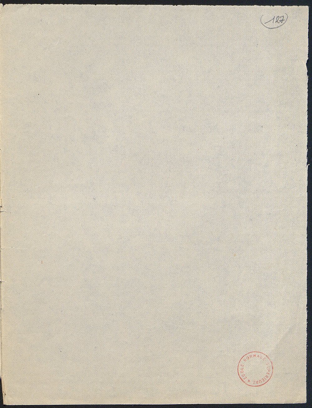 [folio 127 : foliotation de la main de bibliothécaire]