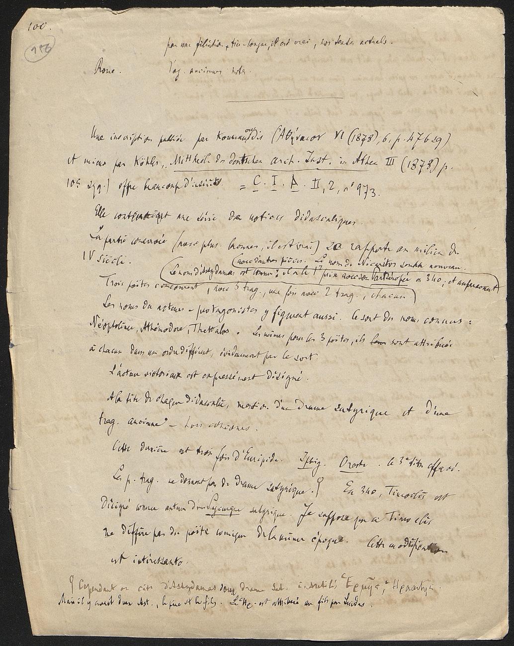 [folio 156 : foliotation de la main de bibliothécaire]
