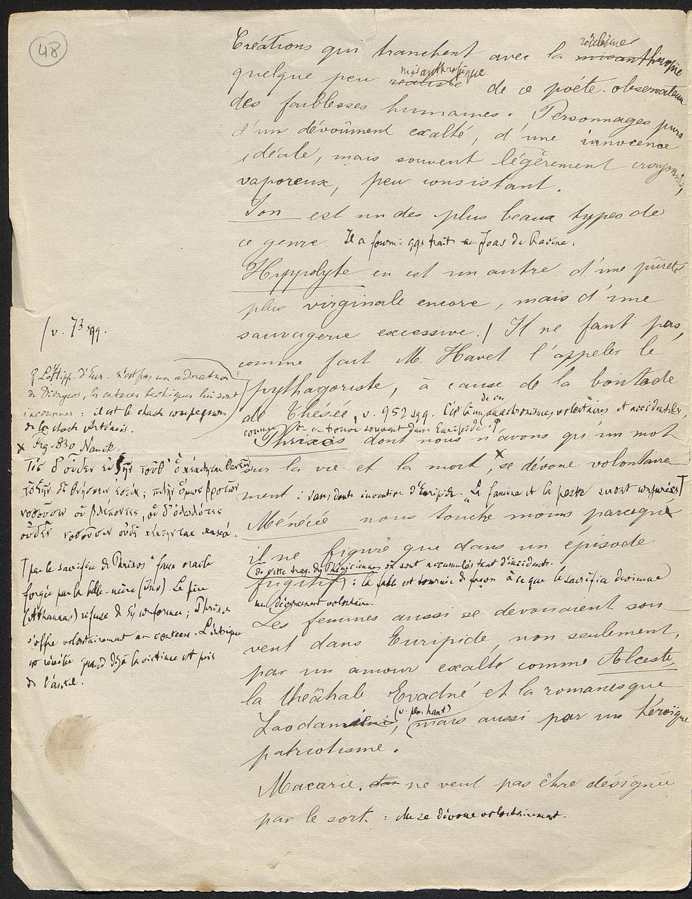[folio 48 : foliotation de la main de bibliothécaire]