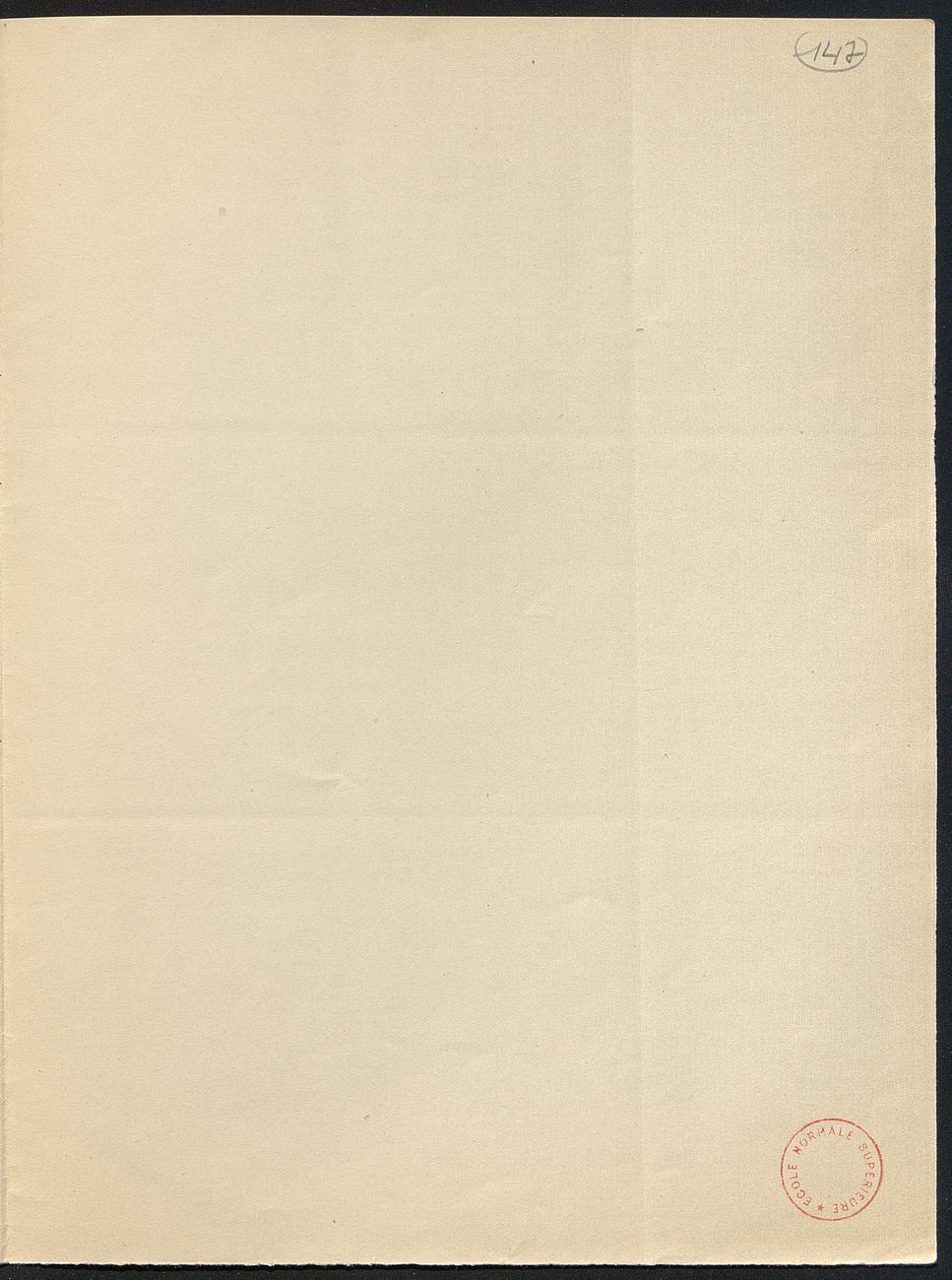 [folio 147 : foliotation de la main de bibliothécaire]