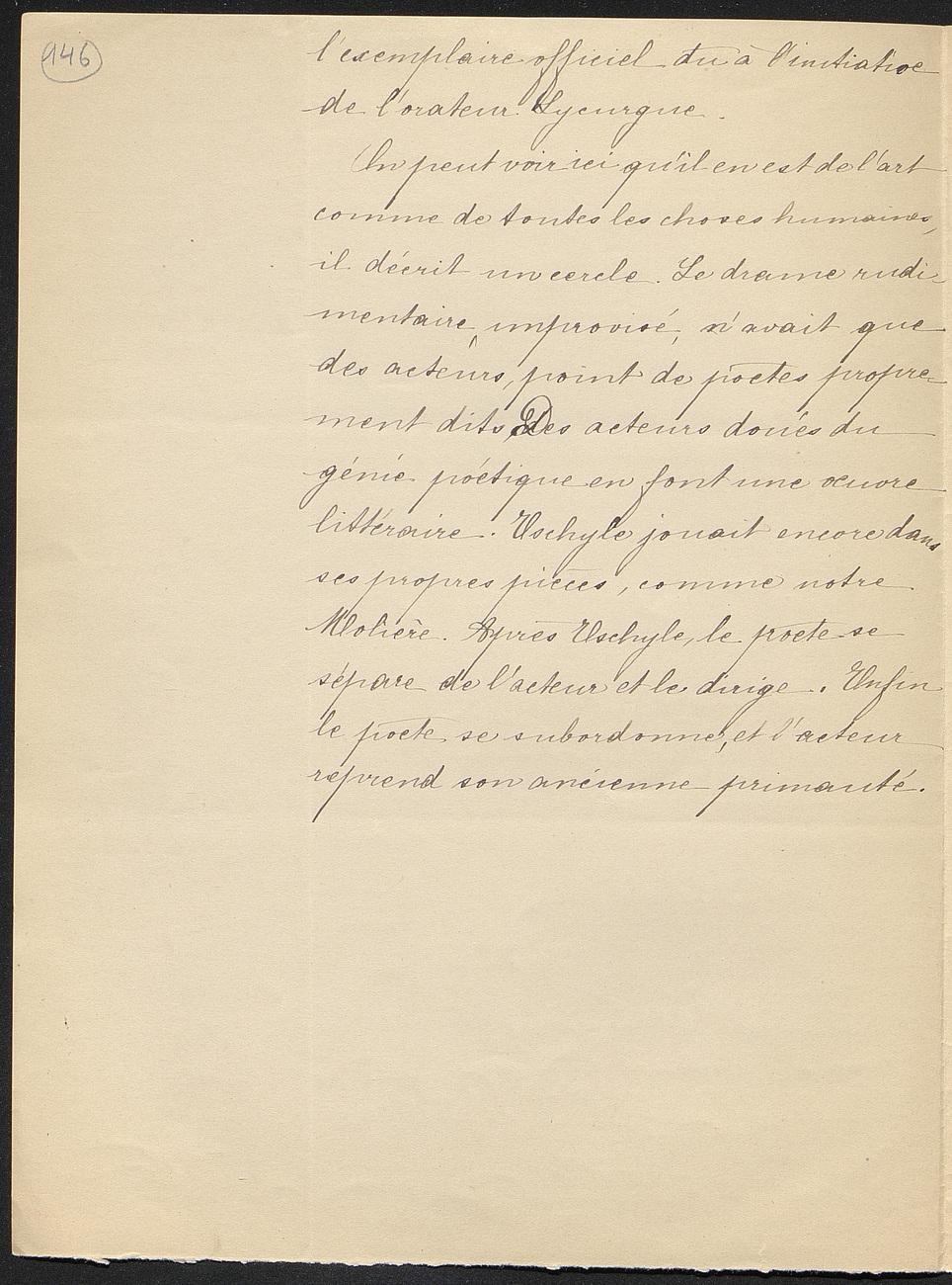 [folio 146 : foliotation de la main de bibliothécaire]
