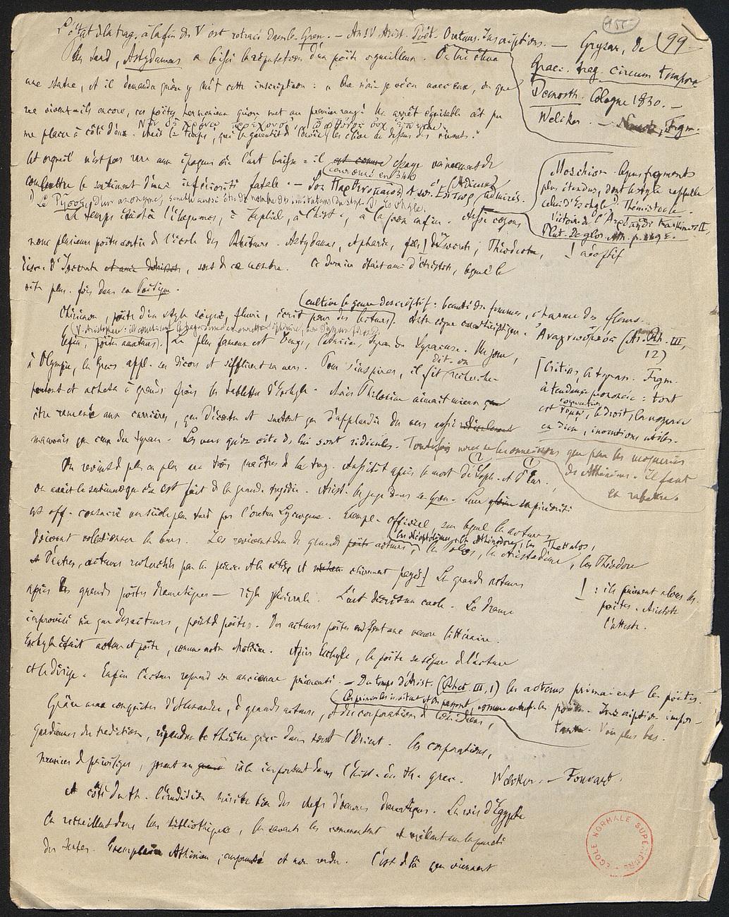 [folio 155 : foliotation de la main de bibliothécaire]