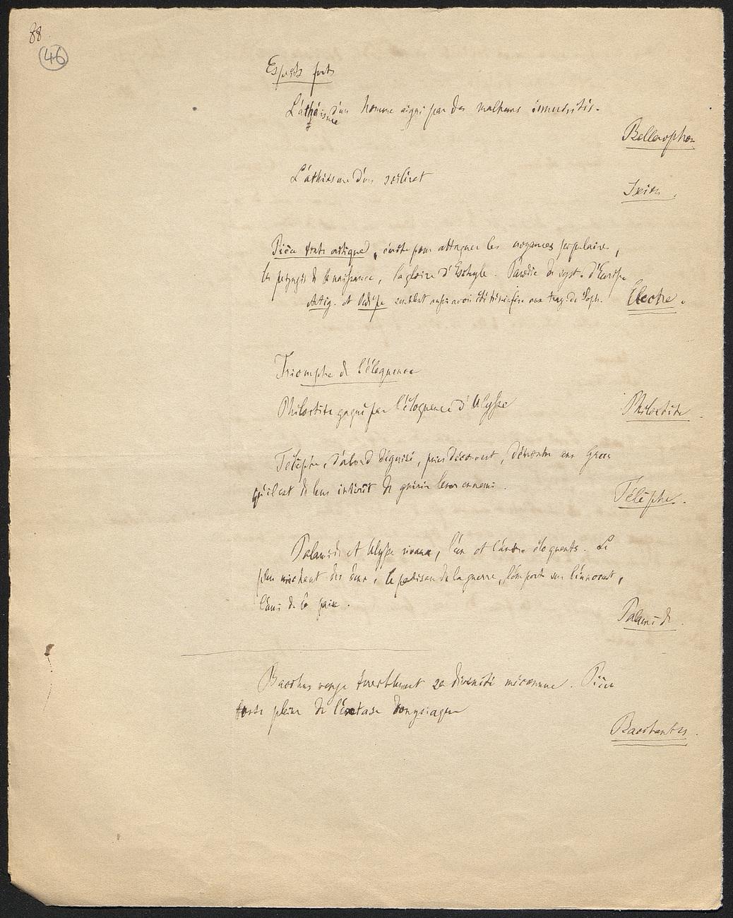 [folio 46 : foliotation de la main de bibliothécaire]
