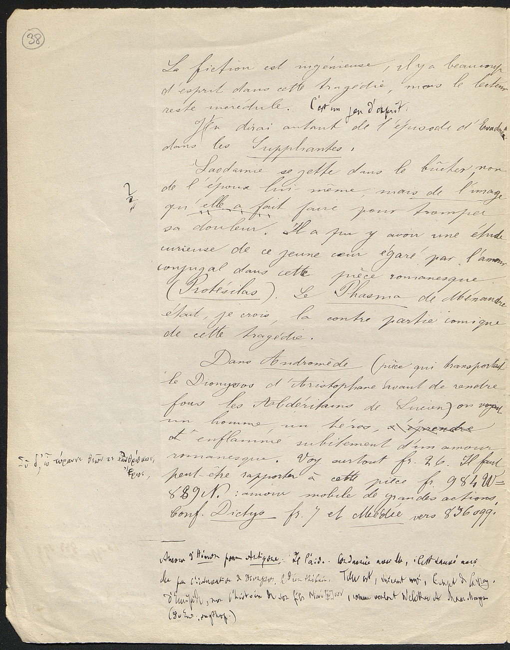 [folio 38 : foliotation de la main de bibliothécaire]