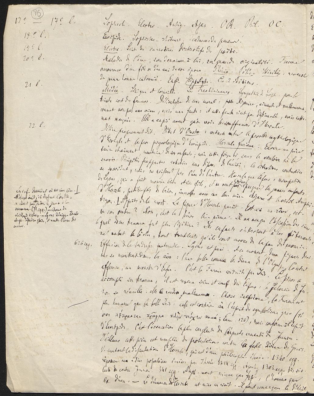 [folio 86 : foliotation de la main de bibliothécaire]