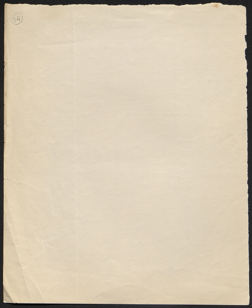 [folio 64 : foliotation de la main de bibliothécaire]