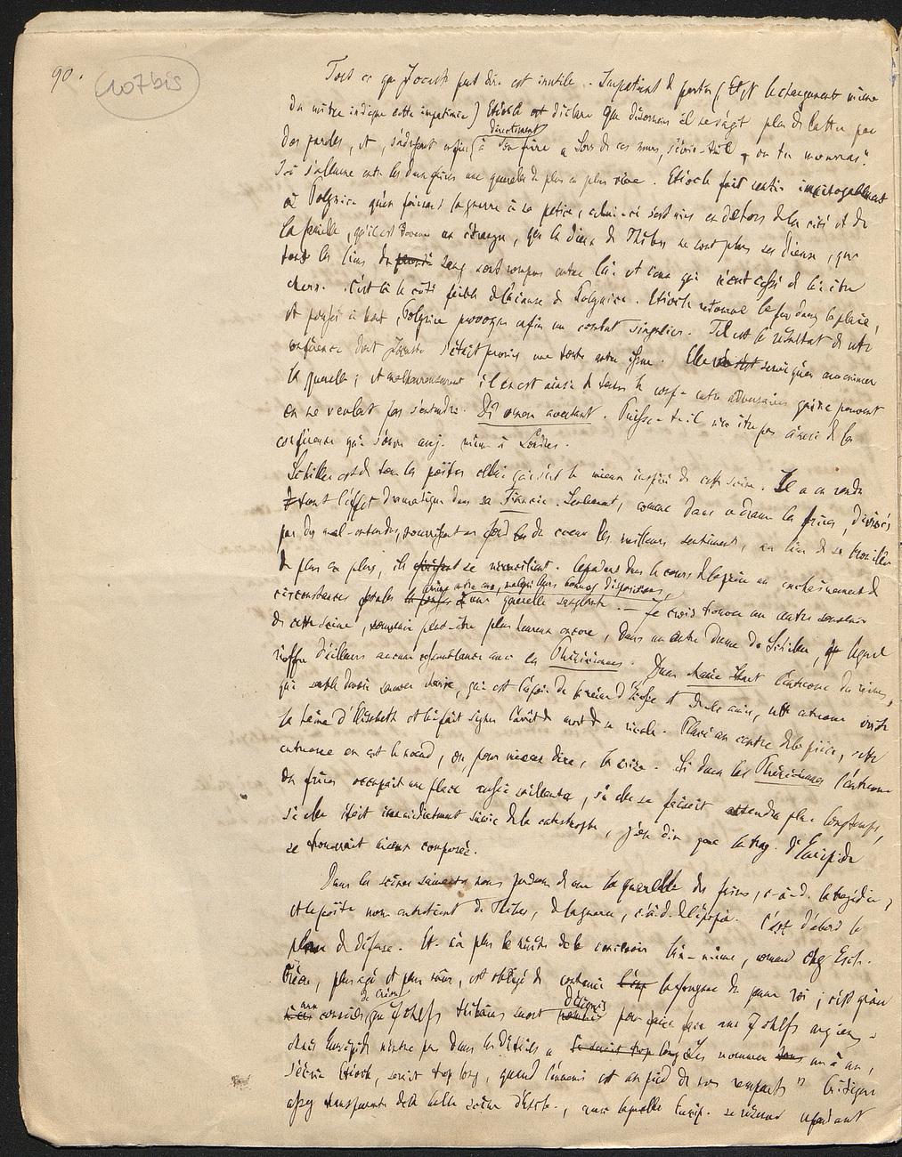 [folio 107bis : foliotation de la main de bibliothécaire]