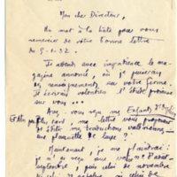 Lettre à Jean Ballard 31-01-1932