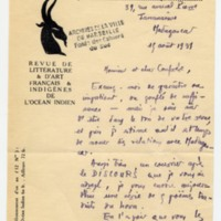 Lettre à Jean Ballard 15-08-1931
