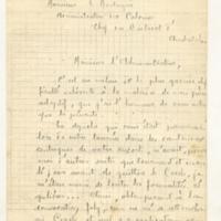 Lettre à Lucien Montagné 12-01-1920