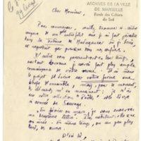 Lettre à Jean Ballard 17-01-1932