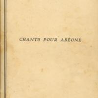 Chants pour Abéone [Éd.]