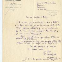 Lettre à Jean Ballard 23-04-1932